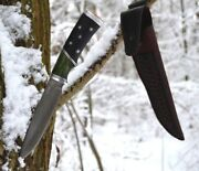 Collection Premium Handmade Knife Golden Eagle Cast Bulat And Silver Hrc 64