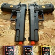 2 Pack Double Eagle Spring Airsoft Pistol Hand Gun W/ 3000 Free 6mm Bb Bbs Ammo