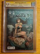 Michael Turner's Fathom V5 1d Cgc 9.9 Ss Signed 5x Heroes' Haven Exc Lmt/e 750
