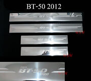 Chrome Stainless Steel Sill Scuff Plate Fit Mazda Bt50 Pro 4 Doors 2012 - 2018