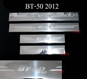 4 Doors Sill Scuff Plate Stainless Trim For Mazda Bt-50 Pro 2012-2014 13 Pickup