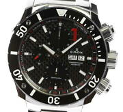 Edox Class 1 01115 Chronograph Day Date Black Dial Automatic Menand039s Watch_558297