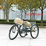Secondhand 26 3-wheeled Adult Tricycle W/ Foldable Basket For Shoppingandouting