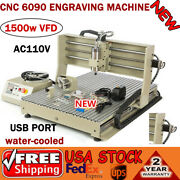 4 Axis 1.5kw Usb Cnc 6090 Router Engraver Drill Cutter Wood Carver Machine Usa