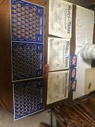 2 States Of The Union 50 State Solid Bronze Collectors Coin Sets 1969 Shell Oil