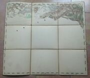 Bursa Turkey And Environs 1876 Anonymous Detailed Antique Map On Linen
