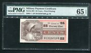 Series 661 25 Cents Mpc Military Payment Certificate 4 Of 10 Pmg Gem Unc-65epq