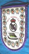 Real Madrid Signed Pennant Banderin Firmado. 1987 For Great Collectors