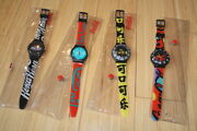 Set Of 4 Collectible Coca Cola Watches Wristwatches Chinese Arabic Russian Logo