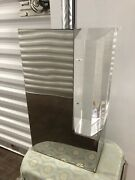 Chrome And Lucite Lamp By Chapman 1986 Space Age Hollywood Regency Mid Century