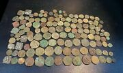 Old Ancient Antique Rare Bronze Indo Kushan Coins 2 Century Ad Greek Empire Lot