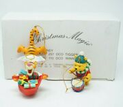 Winnie The Pooh Drmmer Boy And Angel Tigger Disney Grolier Ornament Wings Halo
