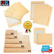 Hard Board Backed Brown Envelopes Please Do Not Bend A6 C6 A5 A4 A3 C4 Peel Seal