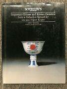 Sotheby's Important Chinese And Korean Ceramics Ira And Nancy Koger Hc 1990