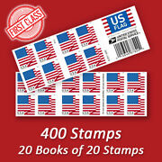 400 Usps Forever Stamps 20 Books Of 2018 Us Flag First Class Mail Postage