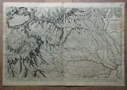 Aosta Valley Italy 1691 Rossi- Vignola Very Large Rare Antique Map Double Page