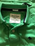 Nwt Abercrombie And Fitch Menand039s Polo Shirt Muscle Fit Green Size S Xl