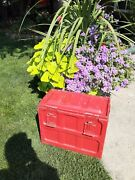 Ww2 Large Ammo Box Painted Red 18x14