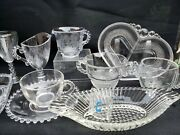 Imperial Candlewick Crystal Glass Serving Ware Lot