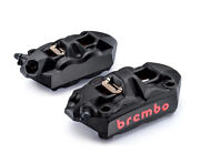 Brembo M4 Front Brake Caliper Kit Left And Right Calipers 100mm Radial Fixing