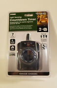 Prime Light Sensing Outdoor Countdown On/off Timer 7 Settings 0154182 Free Ship
