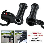 Motorcycle Electric Heating Handle Adjustable Temperature W/ Switch Lcd Display