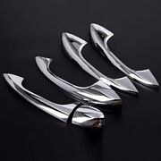 4pcs Door Handle Cover Mirror Plated Chrome Silver Plastic Fit 16-20 X253 Glc300