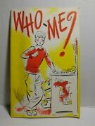 1957 Who Me National Dairy Council-personal Health Checklist Booklet-rare