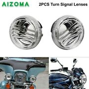 Motorcycle Round Clear Turn Signal Lens Covers For Suzuki Boulevard M50 M109r