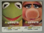Muppets Most Wanted Kermit Miss Piggy Empty Collectible Subway Gift Card