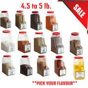 4.5 Lb. To 5 Lb. Pick Your Flavour Bulk Spice Container Spices Cooking Powder