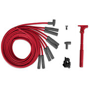 Msd 31539 Kit Spark Plug Wire Set Super Conductor Red Spiral Core 8.5mm For V8
