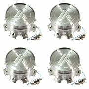 4 American Racing Silver Wheel Center Hub Caps 8l Ab813 Cleaver Ab814 Windmill