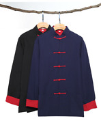 Menand039s Chinese Traditional Tang Suit Kung Fu Tai Chi Uniforms Thick Cotton Coats