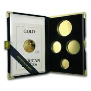Caps And Coa No Coins 2001 American Eagle 4-coin Gold Bullion Proof Box Only