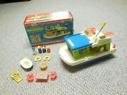 Fisher Price 985 Play Family Houseboat House Boat Vtg