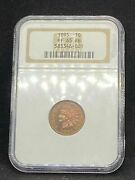 1895 Indian Head Cent Penny Ngc Pf 65 Rb / Pr 65 Rb Red / Brown Proof Certified