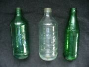 Vintage Pepsi 7up Mountain Dew Glass Pop Soda Bottle Collection
