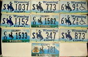 Lot Of 10 Misc Wyoming License Plates
