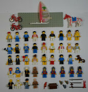 Lego Vtg 80's 90's Lot 39 Mini Figures And Accessories Lot Knights City Star Wars