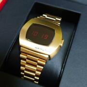 Hamilton Psr Gold Wristwatch Limited 1970 With Exclusive Box