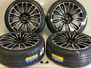 22 Wheels Rims Tires Fits Range Rover Cayenne Edition Supercharged 5x120 Black