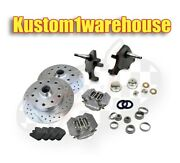 Vw Front 2.5dropped Lower Spindle Disc Brake Conversion Kit Chevy5x4.75 Wilwood