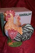 Large Hen Rooster Chicken Country Cookie Jar Kitchen Farm Life Nib