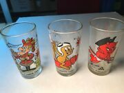 Vintage Arbys Drinking Glass 1970s Bicentennial Hot Stuff Dudley Do Right Rocky