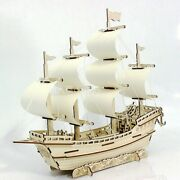 Wooden Ship Sailing Boat Assembly Model Kits Child Ship Home Office Decor Toy