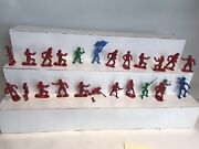Vintage Marx Toy Lot - Revolutionary War Soldiers Blue Red Green