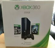 Microsoft Xbox 360 E Elite Holiday Ed. 250gb 2 Games New Factory Sealed -buy Now