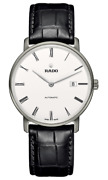 Rado Diamaster Thinline Automatic White Dial Leather Band Menand039s Watch R14067036