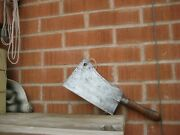 Antique 9 Blade X 2 Lb. Weight Beatty And Son Large Carbon Cleaver Knife Usa
